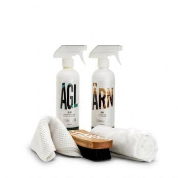 Stjärnagloss Interior Kit - Cleaning Spray, Upholstery Brush, Glass Cleaner And Cloths