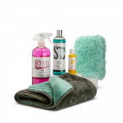 Stjärnagloss Gloss Wash Kit - Citrus Pre-Wash, Shampoo, Rinse Aid, Wash Mitt And Drying Towel