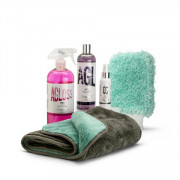 Stjärnagloss Matt Wash Kit - Citrus Pre-Wash, Matt Shampoo, Matt Detailer, Wash Mitt And Drying Towel
