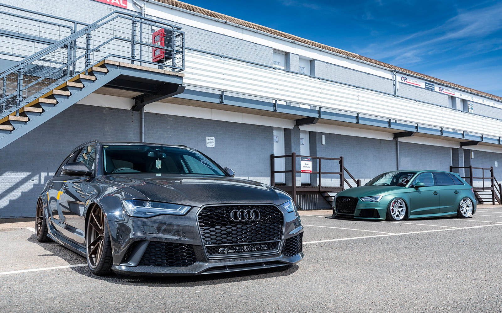 Audi RS6 and RS3